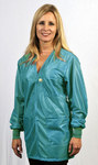 Tech Wear Large Teal V-Neck ESD / Anti-Static Jacket - VOJ-83C-LG