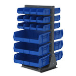 Akro-Mils Blue / Gray Rotary Rack - 23 in Overall Length - 18 1/2 in Width - 34 1/8 in Height - 98318GY2055BLU