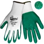 Global Glove Gripster Ultra-Lite 550 Green/White 9 Nylon Work Gloves - Nitrile Palm Only Coating - Rough Finish - 550/9