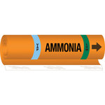 Brady 145771 Orange/Black/Blue/Green Polyester Ammonia Pipe Marker - 10 in Width - 14 in Length with Right Arrow - B-689