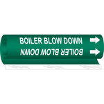 Brady 5800-O White on Green Polyester Water Wrap-Around Pipe Marker - 8 in Width - 1/2 in Character Height - 5 in Length with Right Arrow - B-689