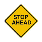 Brady B-959 Aluminum Diamond Yellow Stop Signs, Traffic Control Signs & Banners Sign - 18 in Width x 18 in Height - 80073