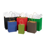 Shipping Supply Brown Tinted Shopping Bags - 6 in x 16 in x 12 in - SHP-3915