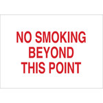 Brady B-401 High Impact Polystyrene Rectangle White No Smoking Sign - 14 in Width x 10 in Height - 25884