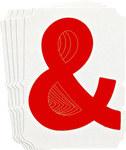 Brady Quik-Align 5120-& Red Vinyl Punctuation Label - Outdoor - 3 in Height - 3 in Character Height - B-933