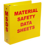 Brady Red on Yellow MSDS & GHS Data Sheet Binder - MATERIAL SAFETY DATA SHEETS - English - 754476-45990
