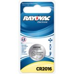 Rayovac Electronic Keyless Entry Battery - Single Use Lithium CR2016 - KECR2016-1G