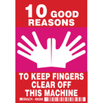 Brady 86266 Magenta / White on Red Polyester Equipment Safety Label - 3.5 in Width - 5 in Height - B-302