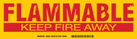 Brady 60294 Red on Yellow Rectangle Polyester Fire Hazard Label - 12 in Width - 3 1/2 in Height - B-302