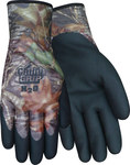 Red Steer Chilly Grip Chilly Grip MO-25 Black Large Acrylic Work Gloves - Nitrile Over Dip Coating - MO-25-L