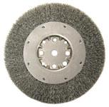 Weiler Steel Wheel Brush 0.014 in Bristle Diameter - Arbor Attachment - 8 in Outside Diameter - 5/8 in Center Hole Size - 01515
