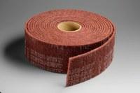 3M Scotch-Brite HS-RL Non-Woven Aluminum Oxide Maroon Sanding Roll - 4 in Width x 30 ft Length - Very Fine - 05213
