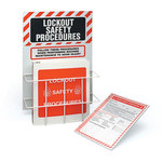 Brady Black/Red on White Polystyrene Lockout Device Station - 14 in Width - 20 in Height - 754476-45635
