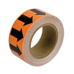 Brady 109941 Black on Orange Pipe Banding Tape - 2 in Width - 30 yd Length - B-302