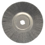 Weiler Steel Wheel Brush 0.014 in Bristle Diameter - Arbor Attachment - 15 in Outside Diameter - 1 1/4 in Center Hole Size - 01349