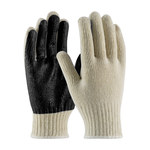 PIP 37-C110PC Black/White Large Cotton/Polyester General Purpose Gloves - PVC Palm & Fingers Coating - 10 in Length - 37-C110PC-BK/L