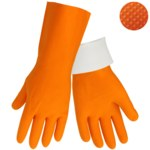 Global Glove 30FT Orange 9 Latex Work Gloves - 30FT/9