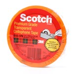 3M Scotch 610 Clear Heat Resistant Box Sealing Tape - 1 in Width x 72 yd Length - 2.3 mil Thick - 07020