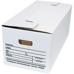 Shipping Supply White String and Button File Storage Boxes - 14.25 in x 9 in x 4 in - SHP-2331