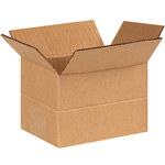 Shipping Supply Kraft Multi-Depth Corrugated Boxes - 6 in x 4 in x 4 in - SHP-1140