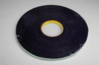 3M 4056 Black Double Coated Foam Tape - 3/4 in Width x 36 yd Length - 1/16 in Thick - 14619