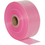 Pink Anti Static Poly Tubing - 5 in x 1075 ft - 4 Mil Thick - SHP-6351