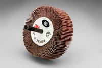 3M 244D Coated Aluminum Oxide Flap Wheel - X Weight - 1 in Face Width - 3 in Diameter - 14656