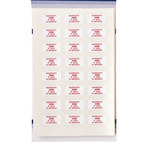 Brady TL-PK-11 Red on White Rectangle Vinyl Tamper-Evident Seal - 3/4 in Width - 3/8 in Height - B-351