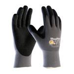 PIP MaxiFlex Endurance 34-844 Black/Gray 2X-Small Nylon Work Gloves - EN 388 1 Cut Resistance - Nitrile Dotted Palm & Fingers Coating - 7.3 in Length - 34-844/XXS