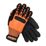 PIP Maximum Safety TuffMax5 120-5150 Orange Large HPPE Glove - Nitrile Palm & Fingers Coating - 10.5 in Length - 120-5150/L