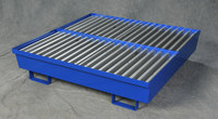 Eagle Blue Cold Rolled Steel Four Drum 92 gal Spill Pallet - 51 1/4 in Width - 54 in Length - 12 in Height - 048441-00893