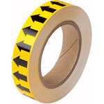 Brady 91424 Black on Yellow Directional Flow Arrow Tape - 1 in Width - 30 yd Length - B-946