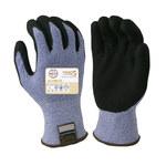 Armor Guys Taeki5 Ultimate 01-027 Black/Blue Large Taeki 5 Cut-Resistant Gloves - ANSI 4, EN 388 5 Cut Resistance - MicroFoam Nitrile Palm & Fingers Coating - 01-027-LG