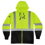 Ergodyne GloWear 8372 Lime Large Polyester Cold Condition Sweatshirt - 2 Pockets - Attached Hood - 720476-21844