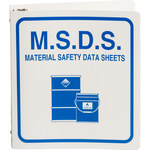 Brady Blue on White MSDS & GHS Data Sheet Binder - M.S.D.S. MATERIAL SAFETY DATA SHEETS - English - 754476-43526