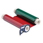 Brady Powermark 13536 Black / Blue / Green / Red Printer Ribbon Roll - 6 1/4 in Width - Roll