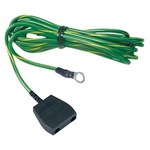 Desco Common Ground, Low Profile Straight ESD Grounding Cord - 15 ft Length - 10 mm Snap - 09825