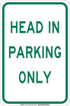 Brady B-555 Aluminum Rectangle White Parking Restriction, Permission & Information Sign - 12 in Width x 18 in Height - 129585