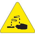 Brady 60184 Black on Yellow Triangle Vinyl Hazardous Material Label - 1/2 in Width - 1/2 in Height - B-946