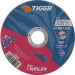 Weiler TIGER Aluminum Oxide Cutting Wheel - Type 1 - Straight Wheel - 60 Grit - 5 in Diameter - 7/8 in Center Hole -.045 in Thick - 57021