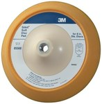 3M Stikit 05568 Soft Yellow PSA Disc Pad - 8 in Diameter - 1 in Thick - 5/8-11 Internal Thread Attachment