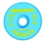 Techspray Pro Wick #2 Yellow Rosin Flux Coating Desoldering Braid - 5 ft Length - 0.055 in Diameter - Rosin Flux Core - 1809-5F