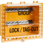 Brady Yellow Steel Lockout Device Station - 12.5 in Width - 11 in Height - 662820-05034