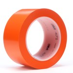 3M 471 Orange Marking Tape - 1 in Width x 36 yd Length - 5.2 mil Thick - 07474