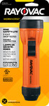Rayovac Industrial Mine Safety Flashlight - 7 Foot Drop Tested - 8 Lumens - (2) D - IN2-MSC
