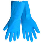 Global Glove 140FB Blue Large Latex Work Gloves - 140FB/LG