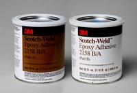 3M Scotch-Weld 2158 Gray Two-Part Epoxy Adhesive - Base & Accelerator (B/A) - 1 qt Kit - 20260