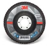 3M 769F Coated Type 27 Aluminum Oxide/Ceramic PSG Purple Flap Disc - 60+ Grit - Medium - 4 1/2 in Diameter - 7/8 in Center Hole - 05904