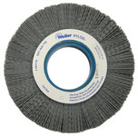 Weiler Silicon Carbide Wheel Brush 0.04 in Bristle Diameter 80 Grit - Arbor Attachment - 6 in Outside Diameter - 2 in Center Hole Size - 83116