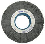 Weiler Silicon Carbide Wheel Brush 0.04 in Bristle Diameter 80 Grit - Arbor Attachment - 6 in Outside Diameter - 2 in Center Hole Size - 83116